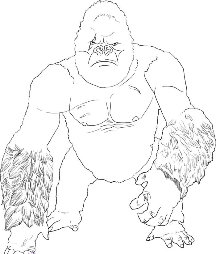 Coloring Pages King Kong Coloring Home