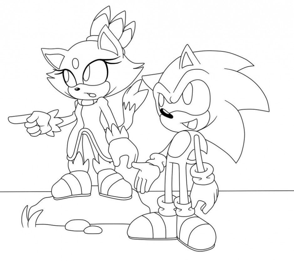 sonic and amy rose coloring pages | Sonic And Amy Coloring Pages - Coloring Home