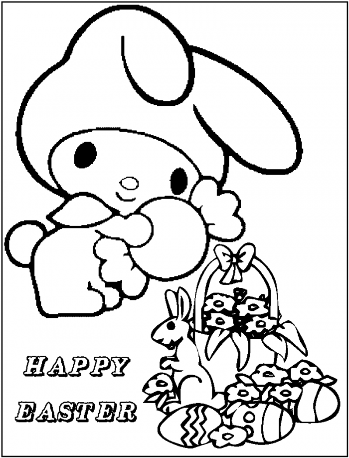 Cute Baby Hello Kitty Coloring Pages