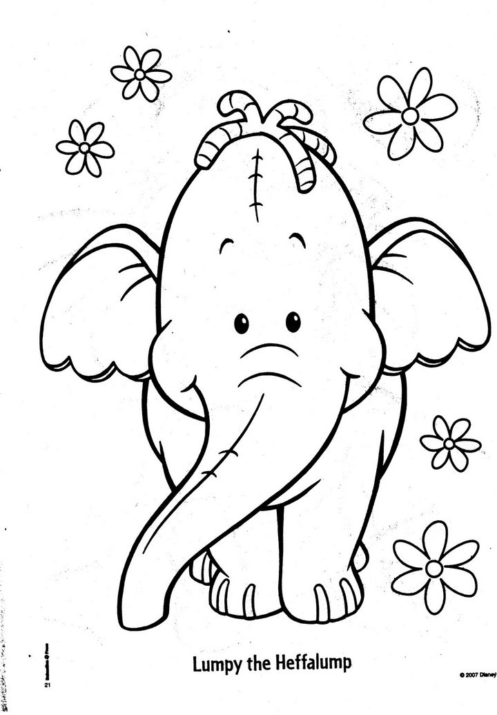 printable heffalump coloring pages - photo#23