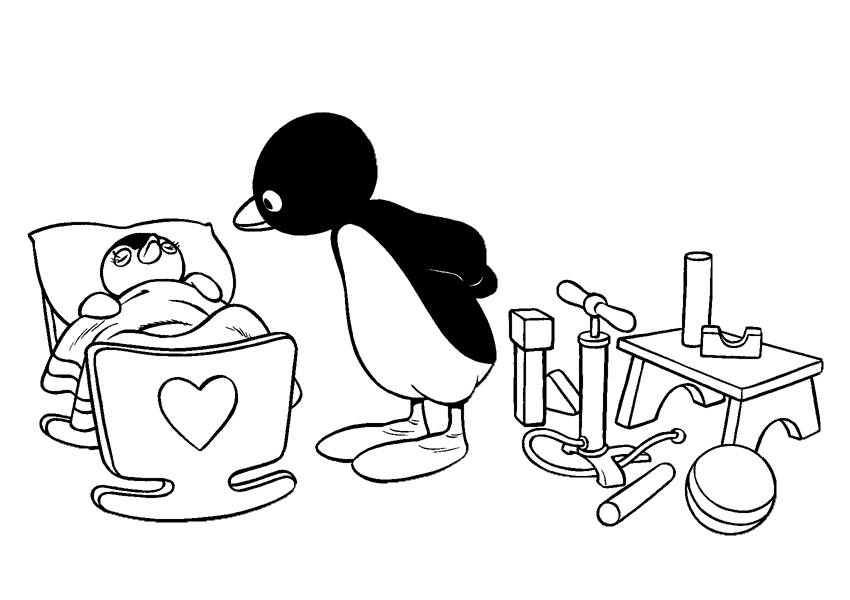 Coloring pages pingu - picture 11