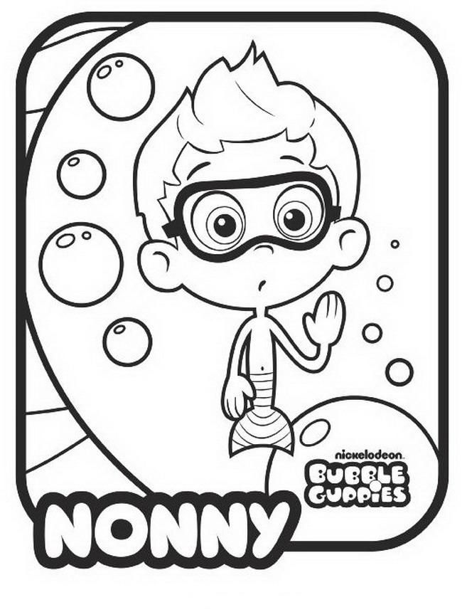 bubble guppies coloring pages oona with arms wide - Bubble Guppies Coloring Pages Oona