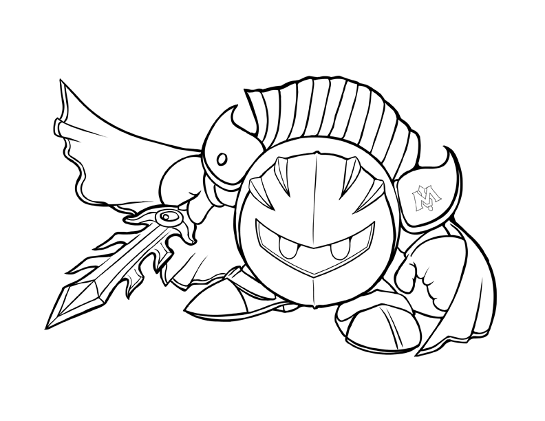 meta knight kirby coloring pages - photo#7