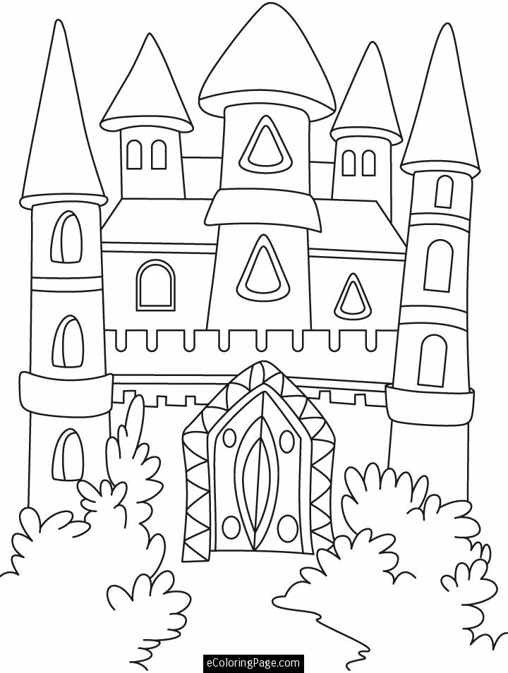 Disney Big Castle Coloring Pages