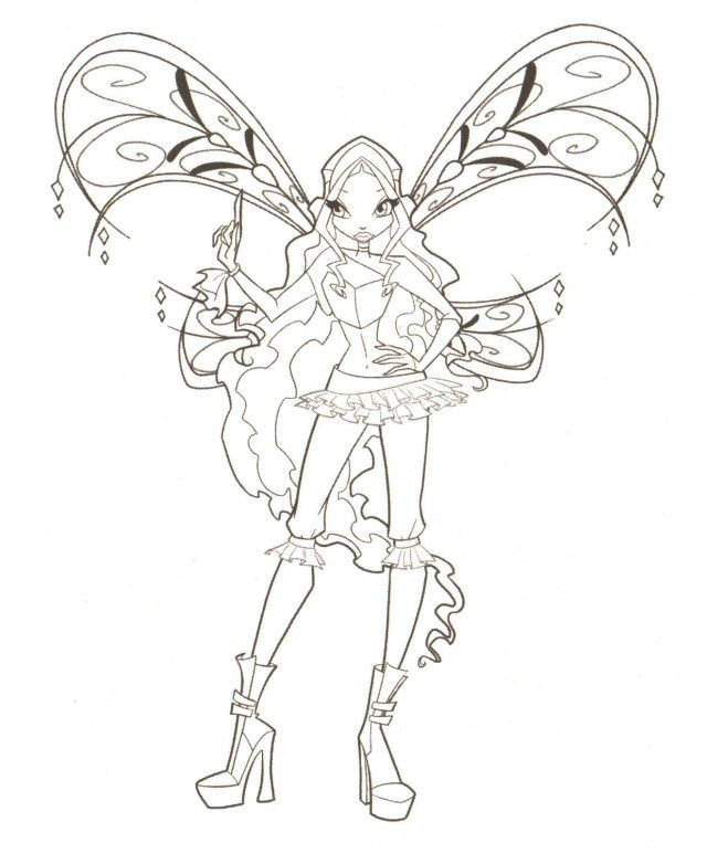 Wings Club Coloring Pages Winx Club Coloring Book Pages Winx