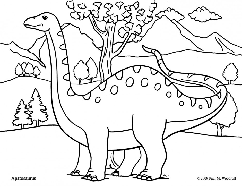 Apatosaurus Coloring Page - AZ Coloring Pages