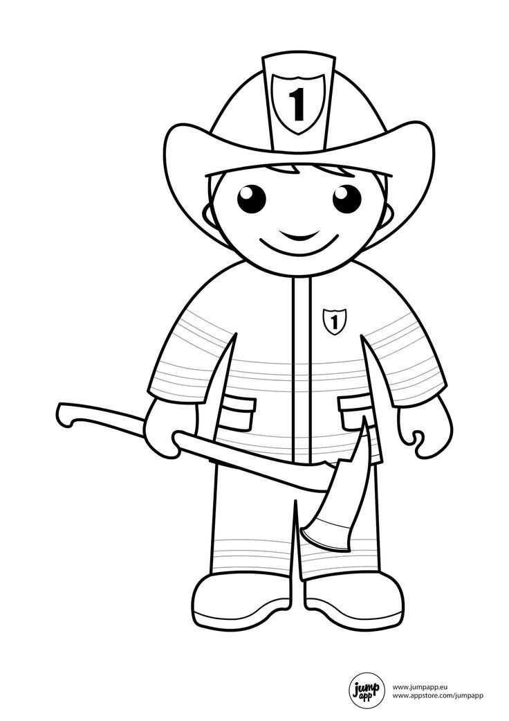Fireman coloring pages coloring home for Firefighter coloring pages printable