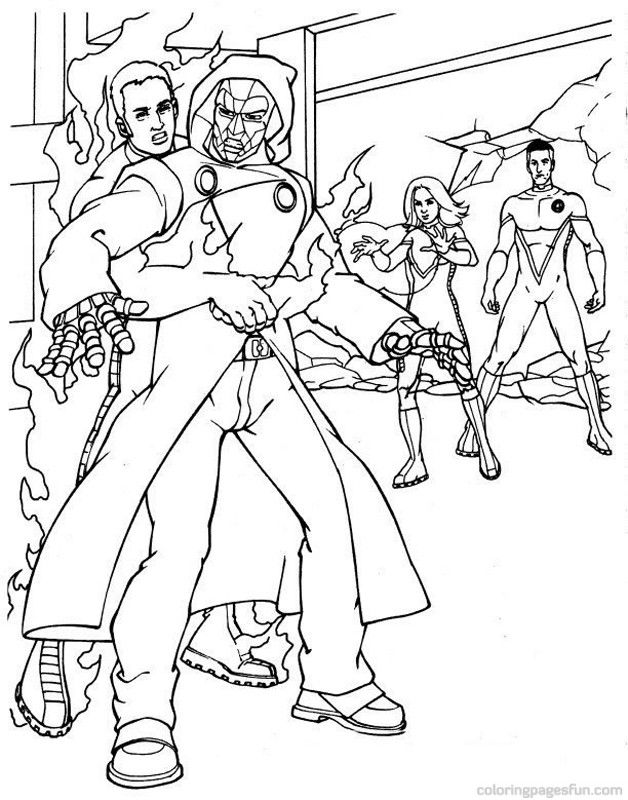 Fantastic Four Coloring Page Az Coloring Pages Fantastic 4 Coloring Pages