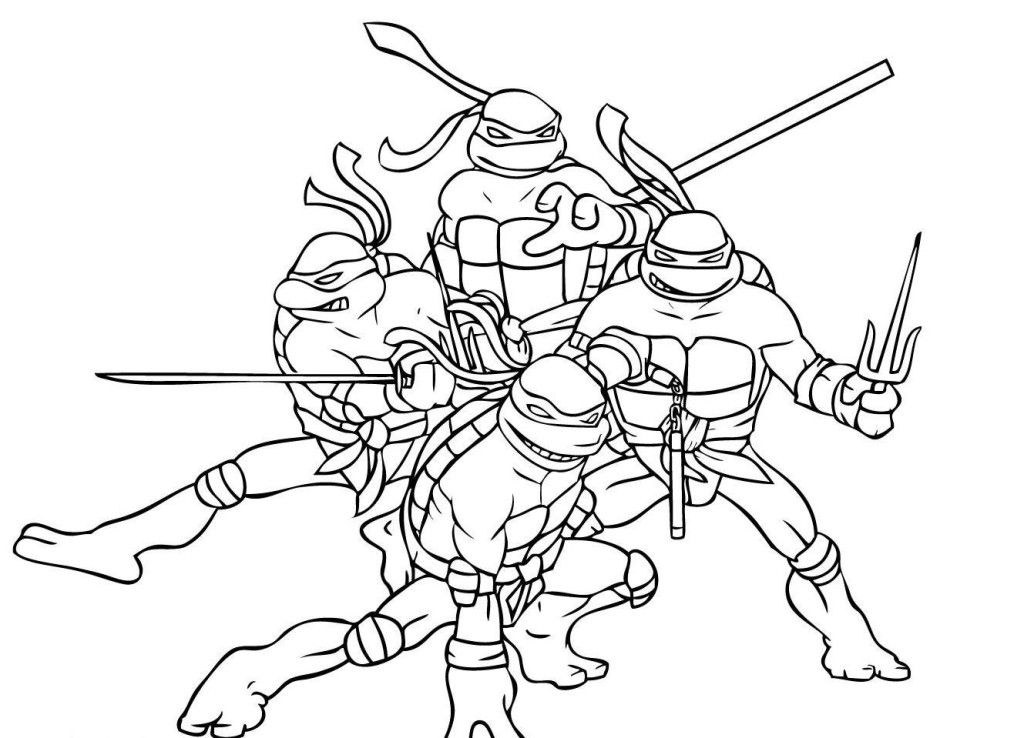 een ninja tutles Colouring Pages