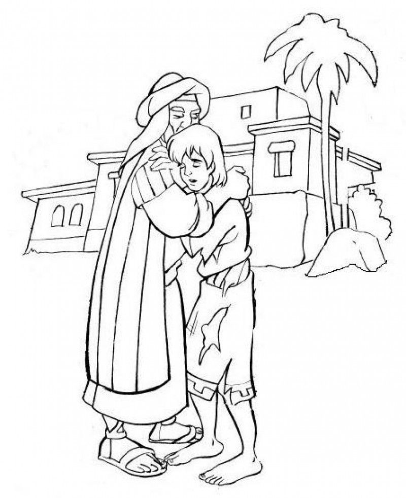 prodigal son coloring pages - photo#1
