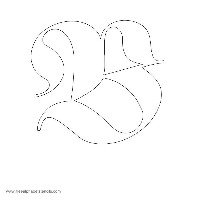 old english alphabet coloring pages - photo#26