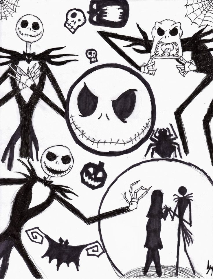 Jack Skellington Coloring Pages Coloring Home Skellington Coloring Page