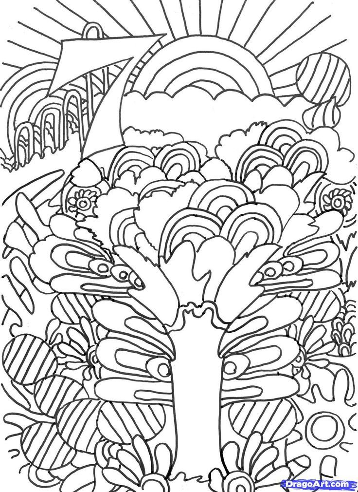 Pin by Deborah Henderson on Trippy Coloring Pages
