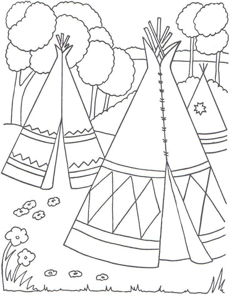 Pilgrim and indian coloring pages coloring home for Coloring pages of indians