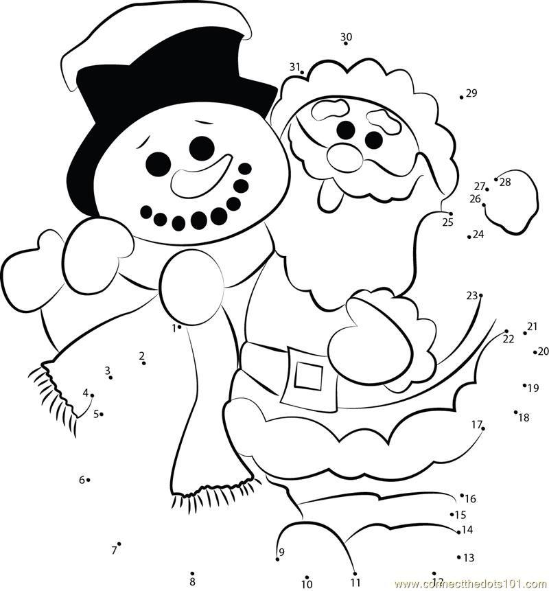 santa and snowman coloring pages - photo#24