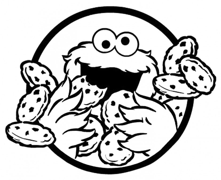 Baby Elmo And Baby Cookie Monster Coloring Pages Cookie Monster