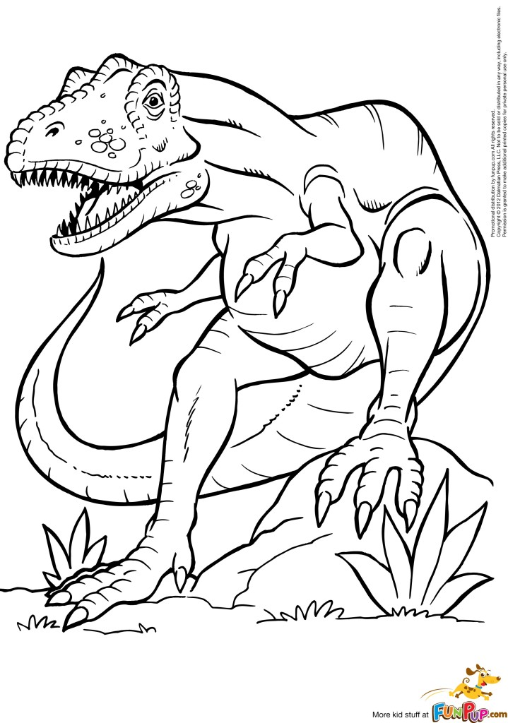 t rex coloring pages for kids - photo #38