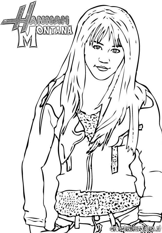printable hannah montana coloring pages - photo#4