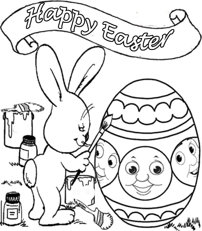 Mrs Bunny With A Basket Of Easter Eggs Coloring Page: Mr. Incredible Coloring Page