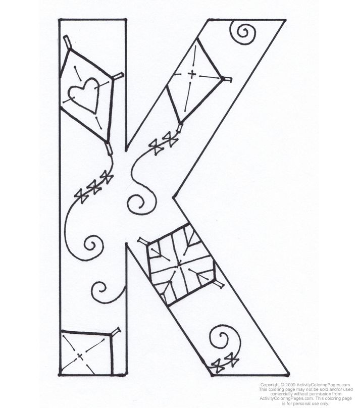 Letter K Coloring Page Coloring Home K Coloring Page