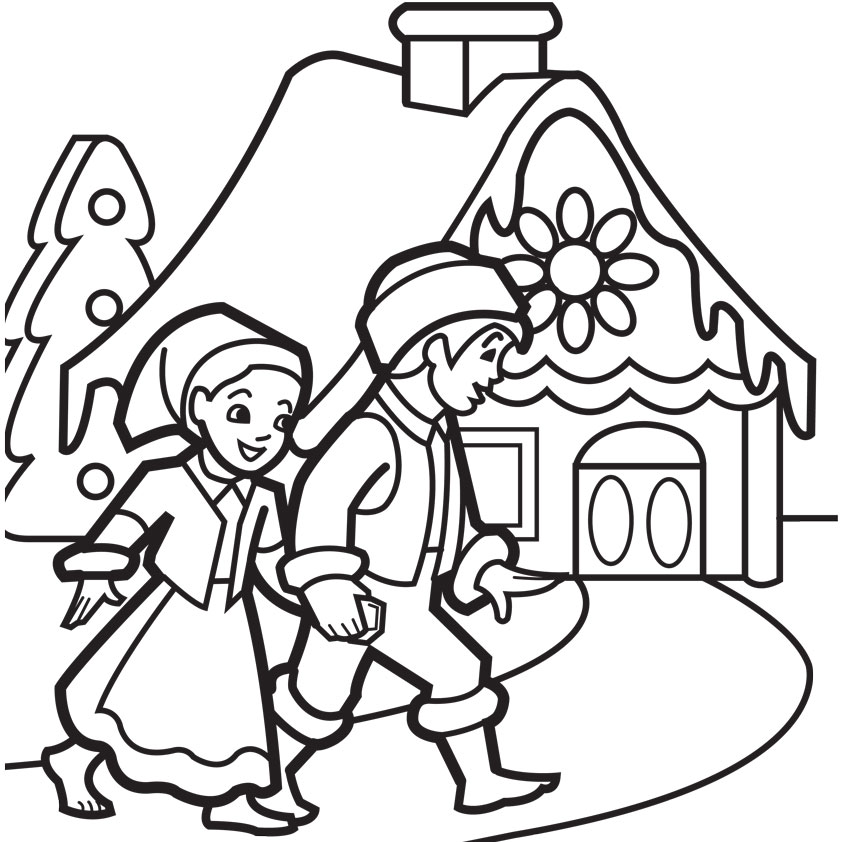 Image Result For Gingerbread House Coloring Pages Best