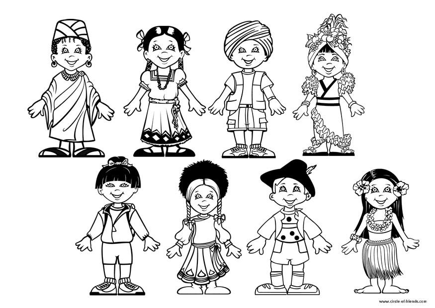 Children Around The World Coloring Page Az Coloring Pages Children Of The World Coloring Page