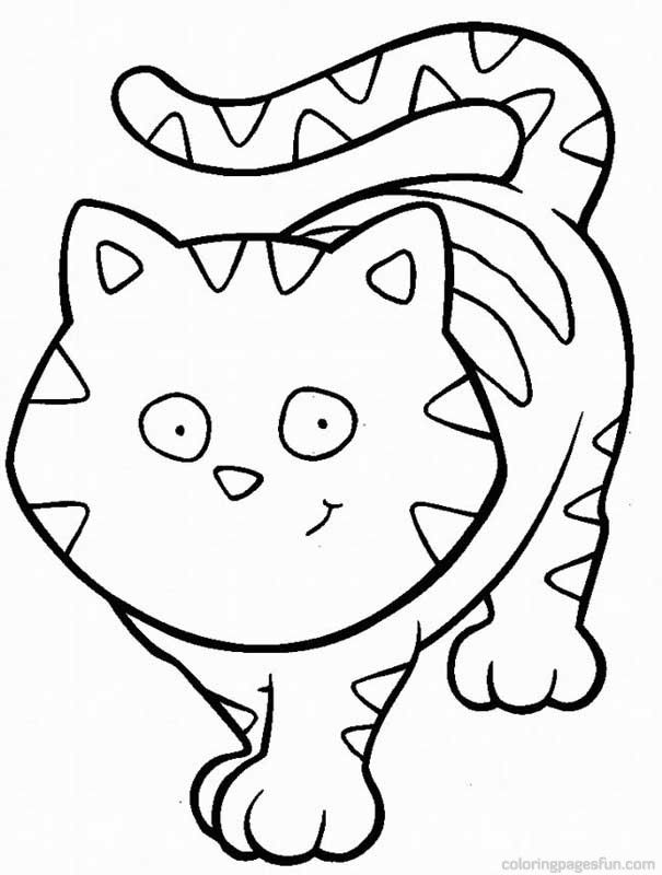 baby cat coloring pages - photo#11