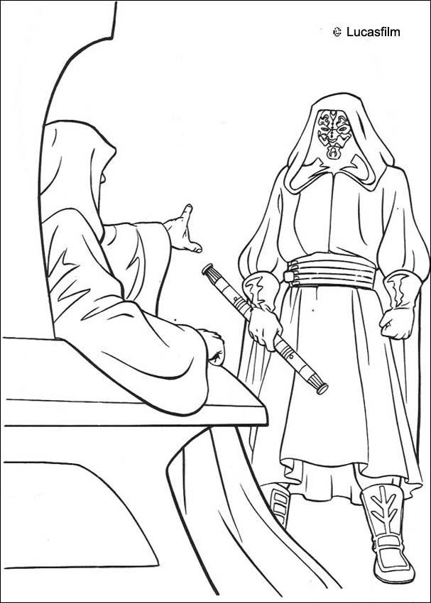 Darth Maul Line Drawing Darth Maul Coloring Pages