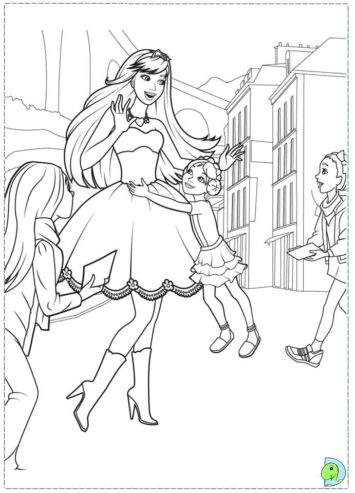 Princess Barbie Coloring Page