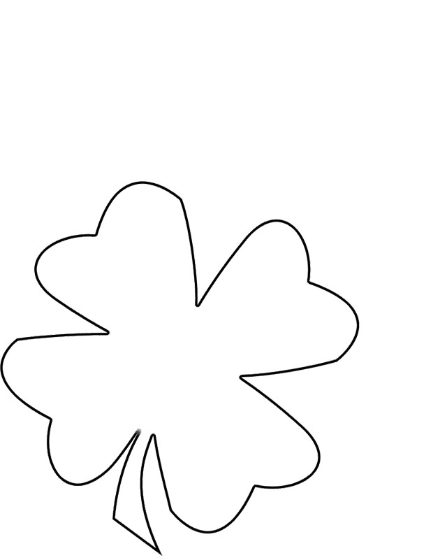 four leave clover coloring pages - photo#31