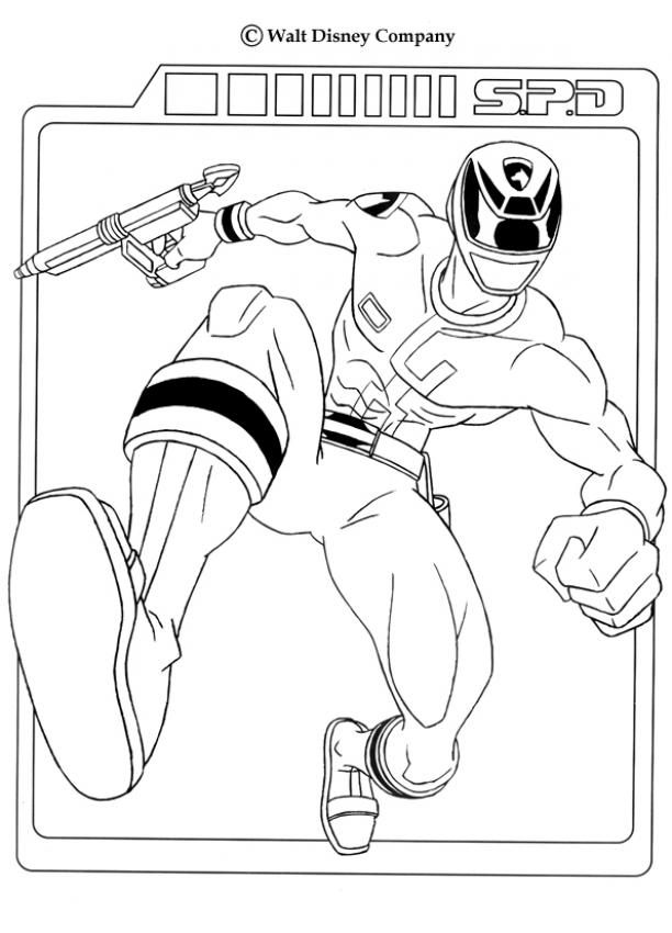 Gun Coloring Pages Pdf : Power rangers coloring pages ranger with laser gun