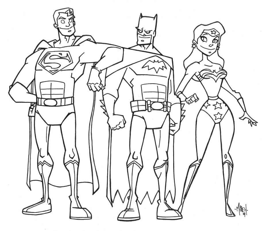 Justice League Coloring Pages For Kids - Coloring Home | 803x940