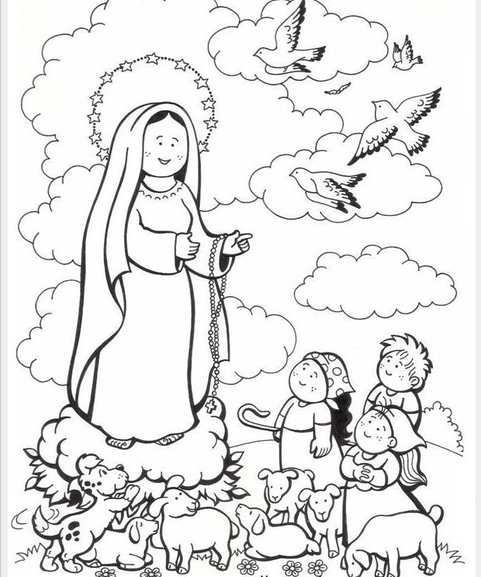 Our Lady Of Lourdes Coloring Page Coloring Home