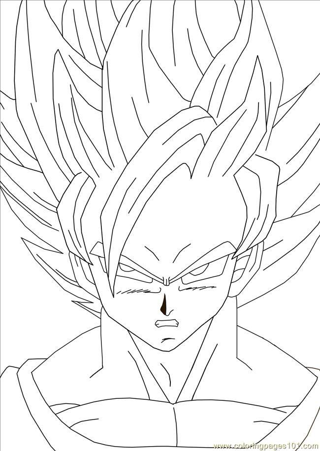 goku coloring sheets printable - Goku Printable Coloring Pages
