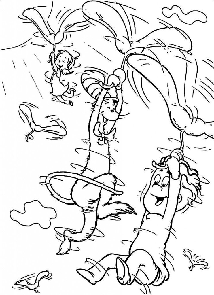 Dr Seuss Coloring Pages For Kids