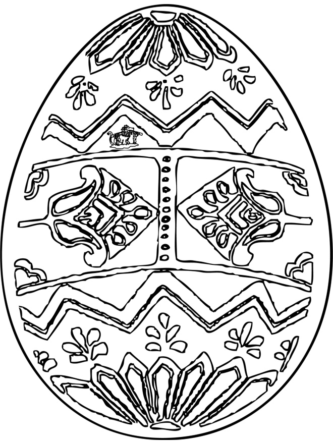 Easter Eggs Coloring Page AZ Pages