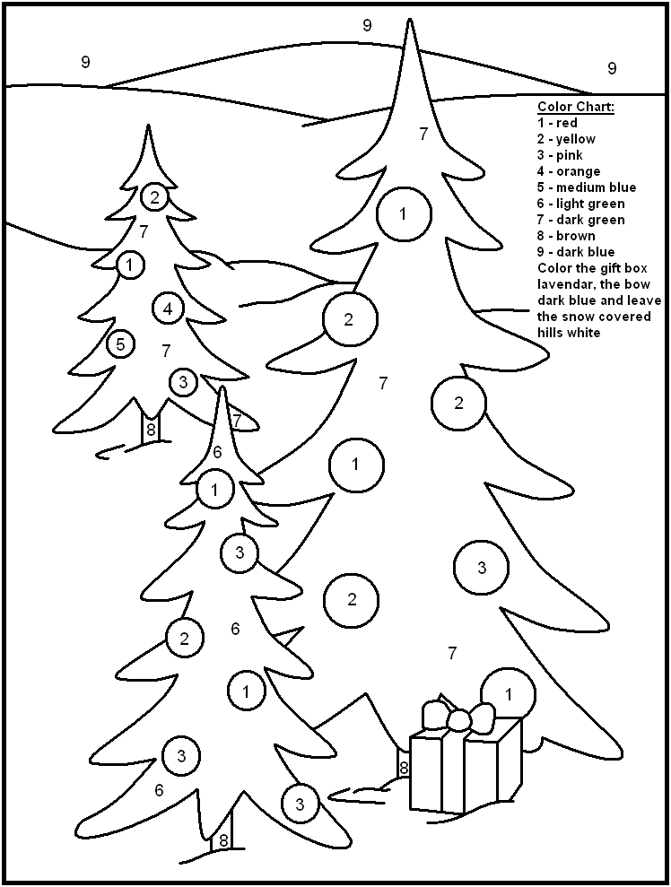 Colouring By Number Christmas : Christmas color by numbers coloring pages az