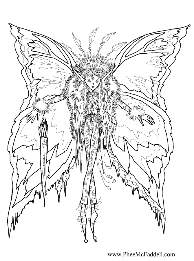 printable fairie coloring pages - photo#36