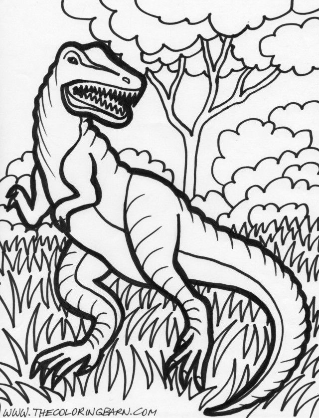 Dinosaur T Rex Coloring Page T Rex Dinosaur Coloring Pages 262335