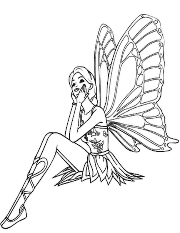 free online fairy coloring pages - photo#44