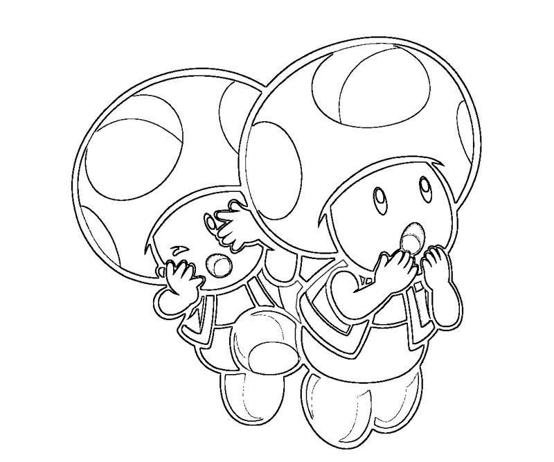 toad coloring pages mario - photo#24