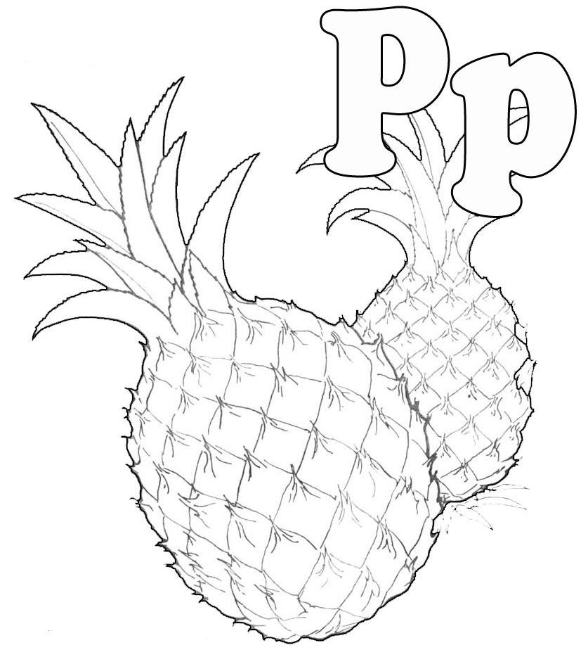 Pineapple Coloring Page - AZ Coloring Pages
