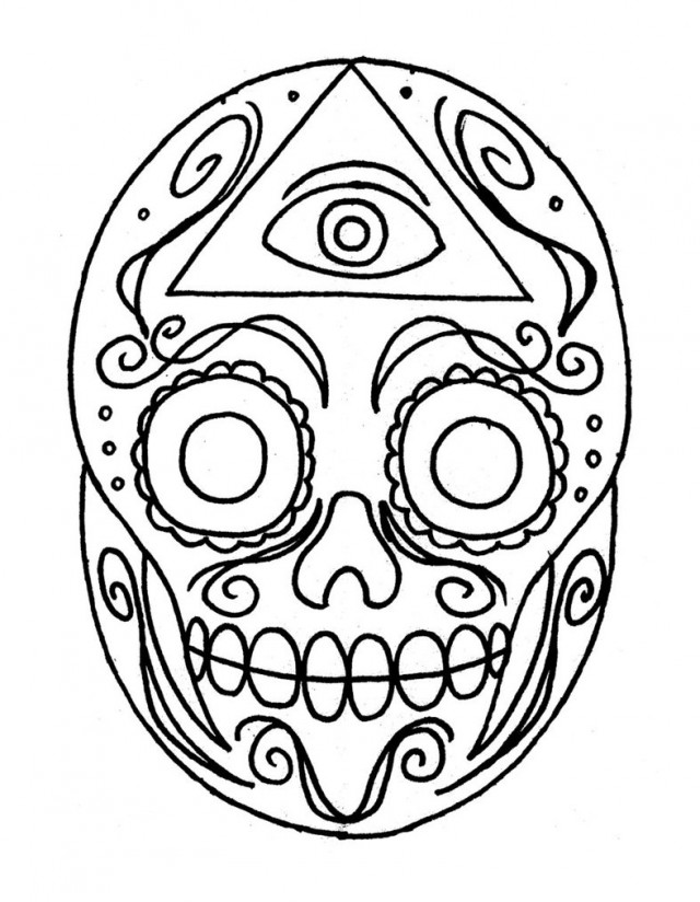 Sugar Skull Free Coloring Pages 152608 Free Skull Coloring Pages