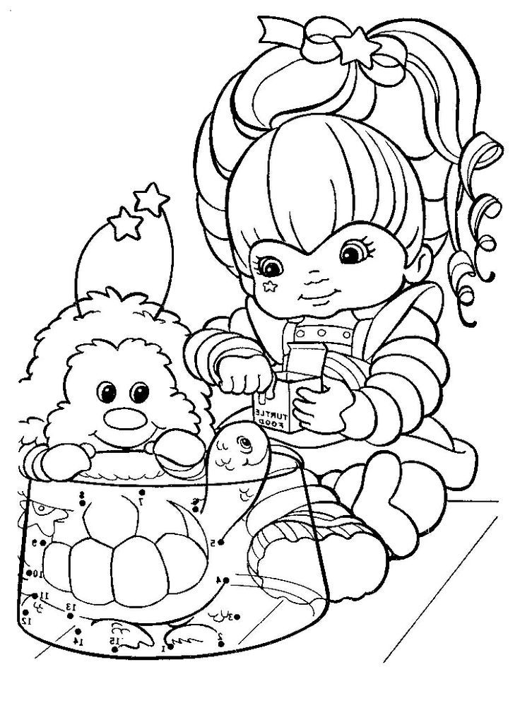 Coloring Pages Rainbow Brite Coloring Home