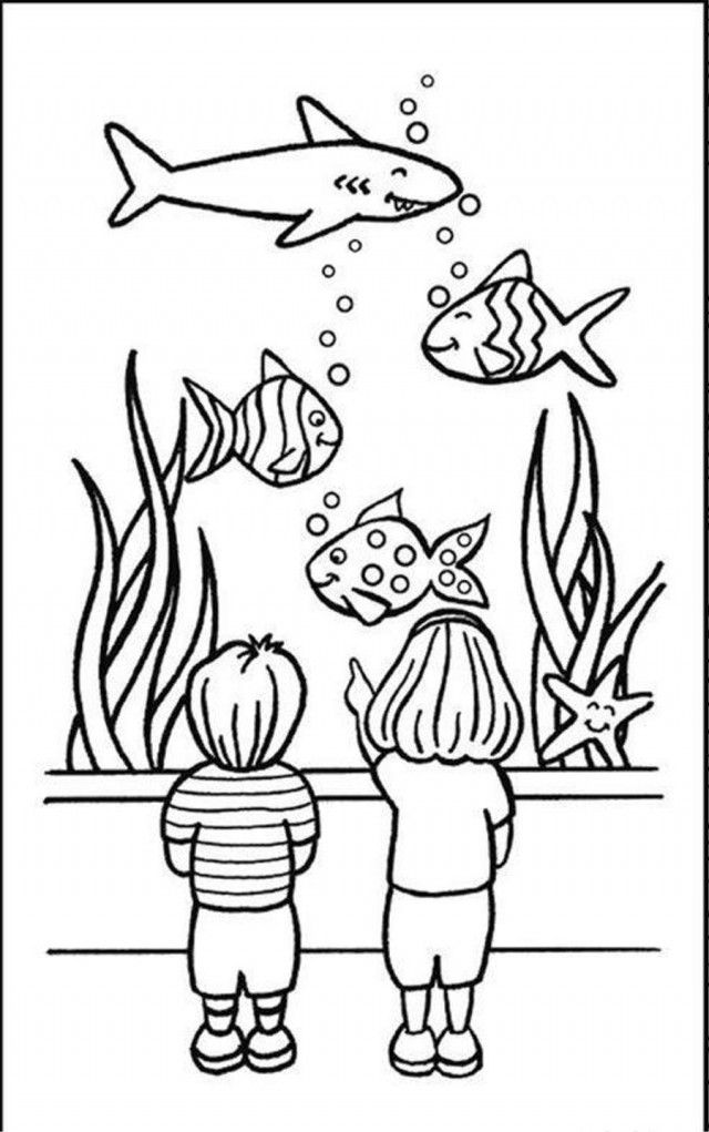 fish aquarium decorations coloring pages | Aquarium Coloring Page - Coloring Home