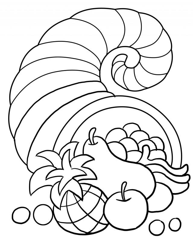 Cornucopia Color Page Az Coloring Pages Cornucopia Coloring Page