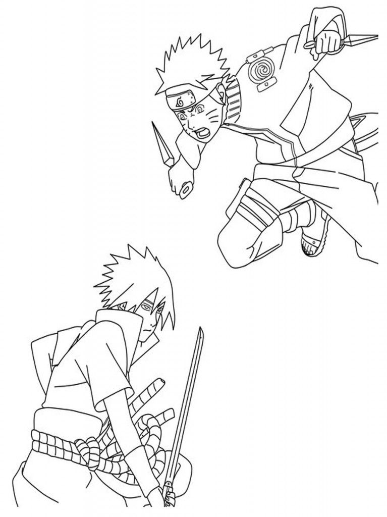 online naruto coloring pages - photo#8