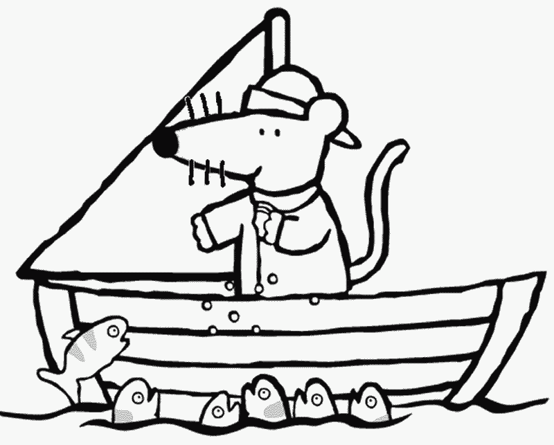 Maisy Coloring Pages - AZ Coloring Pages A Coloring Page