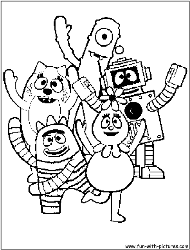 Yogabbagabba Characters Coloring Page Drawing And Coloring For