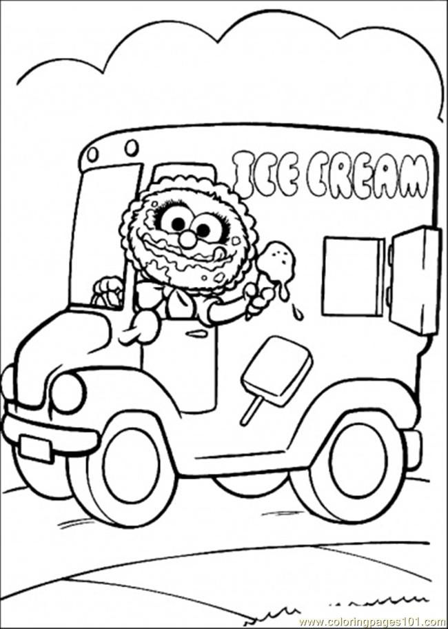 Coloring Pages She Sells Ice Cream (Cartoons > Muppet Babies